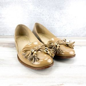 Kate Spade Tan Leather Loafers - 7.5M